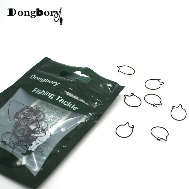 20pcs Carp Fishing Maggots Clip Tackle Bait Ring Hair Rigs Accessories HF0X1