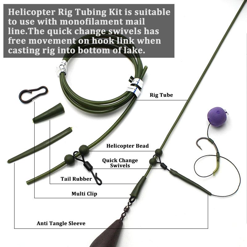 Alwonder 299pcs Carp Fishing Tackles Rig Kit Hair Rig Helicopter Making Full Set